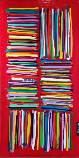 "DAVID FERREIRA Crayonnade 39.4"" x 19.7"" x 1.2"" Peinture"