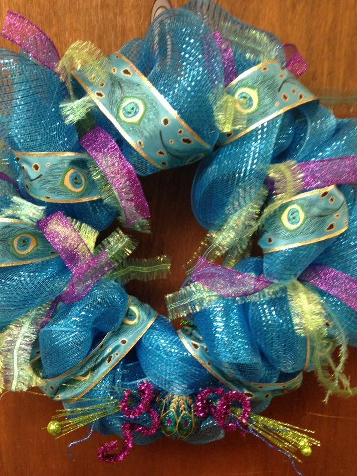 Peacock Wreath. Custom order.