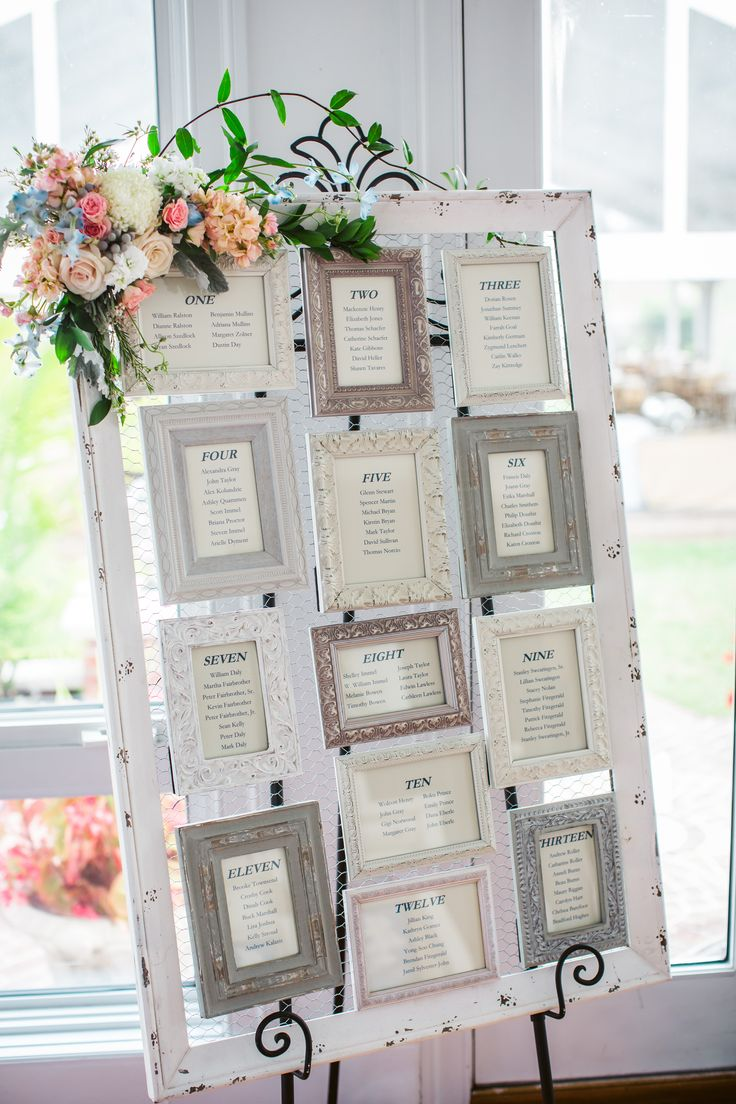 Vintage Picture Frame Seating Chart
