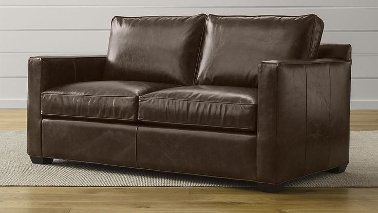 Davis Leather Full Sleeper Sofa with Air Mattress | Crate and Barrel