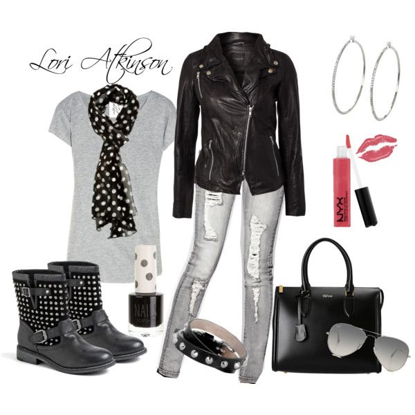 U0026quot;Cute Edgy Looku0026quot; by Lori Atkinson on Polyvore | Outfits | Pinterest | Edgy Look Polyvore and Night