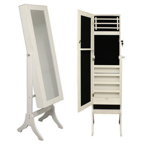 Large Floor Standing Mirror Jewellery Cabinet Organiser Storage Box Furniture   eBay