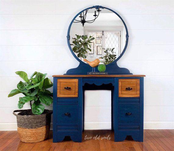 Fantastic Reserved For Elizabeth 4 Drawer Teal Vanity Desk With Download Free Architecture Designs Scobabritishbridgeorg