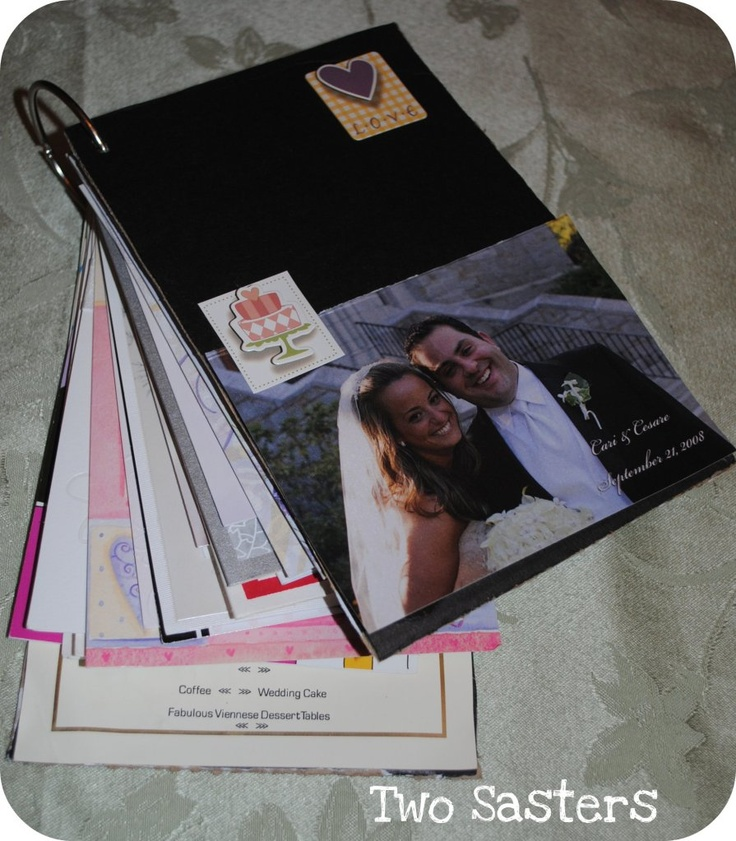 Wedding Card Keepsake book...fun way to display wedding cards instead of keeping them hidden in a box. You can do this with ANY special occasion