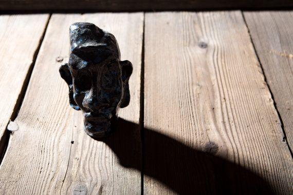 Man of Africa. A sculpture of ceramic