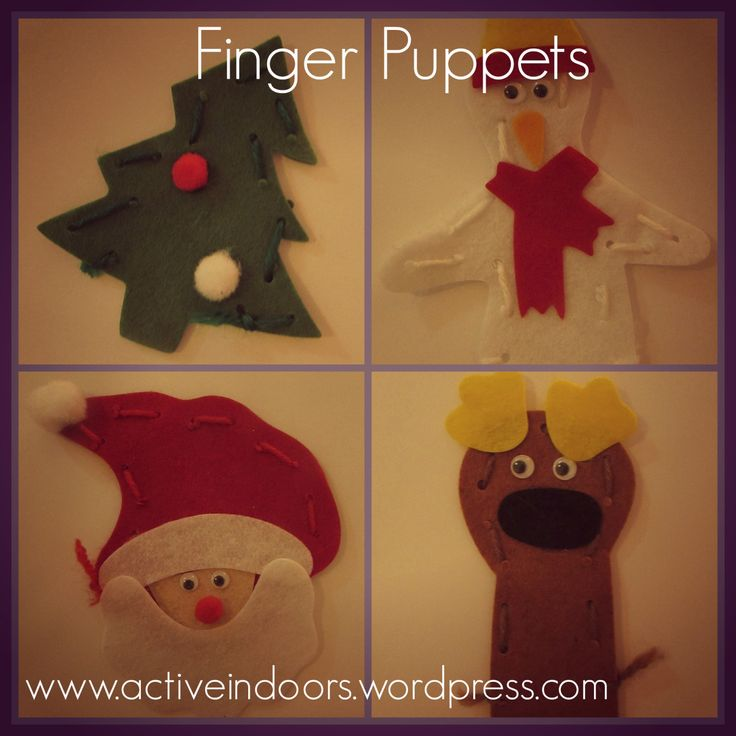 Christmas Finger Puppets - simple instructions for making puppets with young children/toddlers