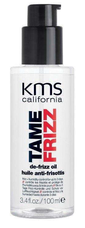 KMS Tamefrizz - De-Frizz Oil - 100ml - Das KMS Tamefrizz De-Frizz Oil ist ein leichtes, nicht fettendes Pflegeöl mit dem Frizz effektiv beseitigt werden kann. Es ist ein Bestandteil des Tamefrizz Systems und wirkt bei gleichzeitiger Anwendung von weiteren Tamefrizz Produkten besonders gut. Das De-Frizz Oil schenkt dem Haar jedoch nicht nur intensive Pflege, sondern bietet zudem einen hochkarätigen Hitzeschutz.  Technologie: De-Frizz System: Durch das innovative De-Frizz System wird die ...
