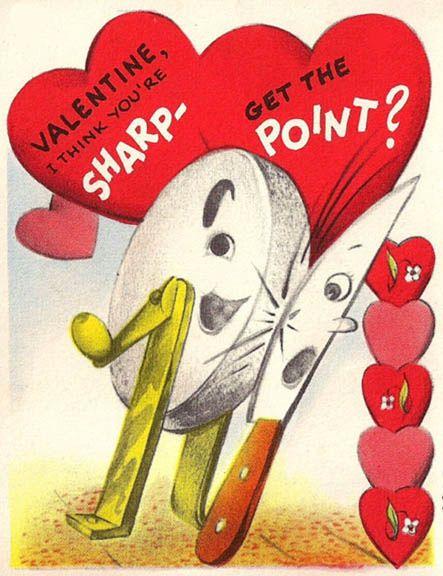 Vintage VALENTINE  I think you're SHARP - Get the POINT?
