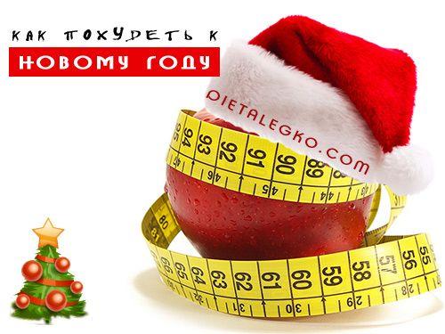 Мотивационный план похудения к Новому году.