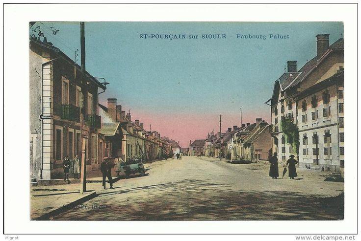 03 - CPA - SAINT POURCAIN SUR SIOULE - Faubourg Paluet - ( ALLIER ) - France