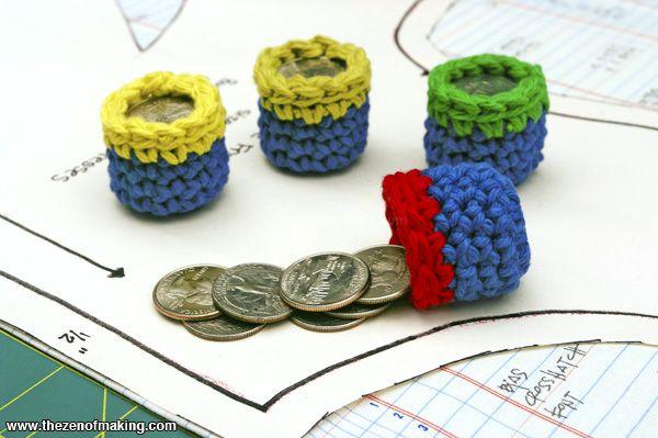 Tutorial: Crocheted Pocket Change Pattern Weights   The Zen of Making