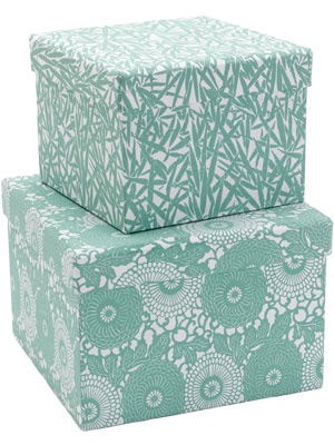 Hand Printed Duck Egg Blue Storage Boxes Chez Moi