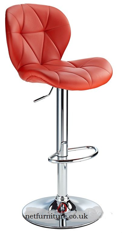 Virtuoso Height Adjustable Bar Stool With Padded Seat And