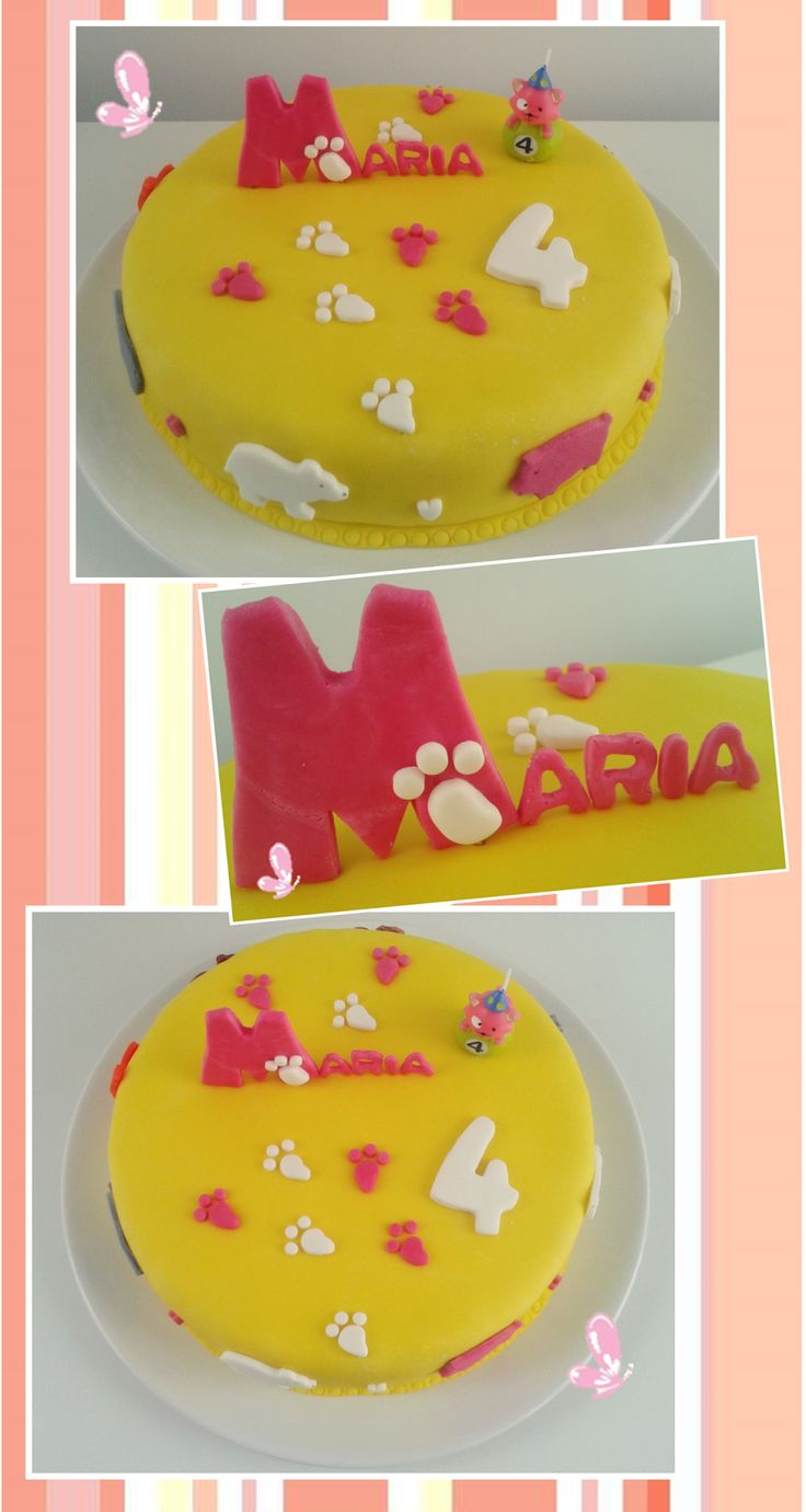 Little paws, bears, pink pigs, and so much more marked this birthday party! Read more: http://eraumavez-osonhoperfeito.blogspot.pt/2013/12/18-o-zoo-da-maria-parte-2-cake-design.html