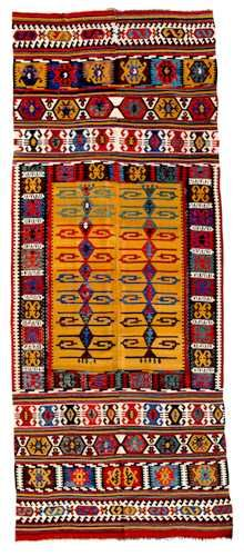 Antique Turkish Kilim Rugs | Antique Turkish Kilim/Kilem by Barry O'Connell