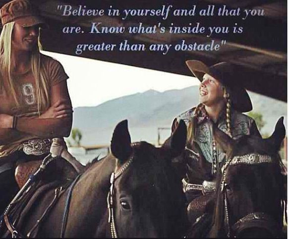 Amberley Snyder has got to be one of the most inspirational people, her story is amazing. Bad ASS cowgirl right there!