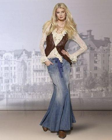 Long denim skirt...want one!!
