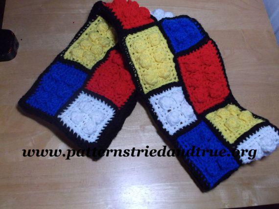 Crochet Lego Scarf, Lego Blanket, Lego Pillow,  Lego Backpack, Sweater, Easy basic Lego Crochet Pattern PDF for beginners.