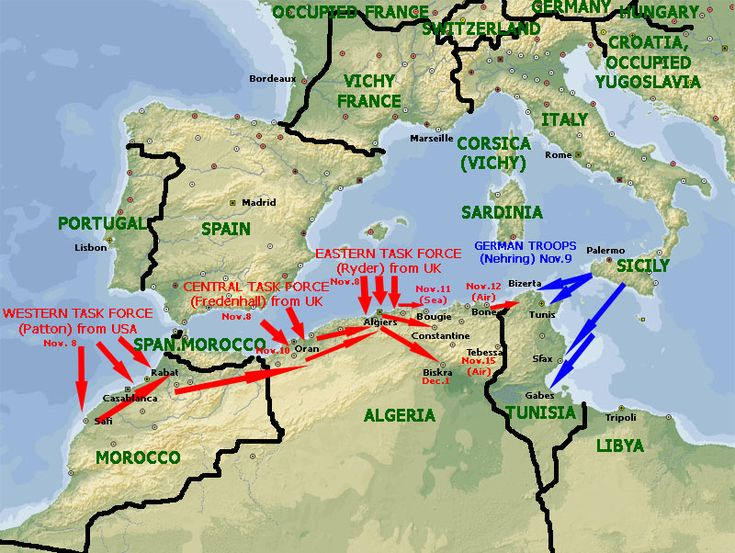 Operation Torch  Nov 7, 1942  The beginning of the invasion of North Africa.