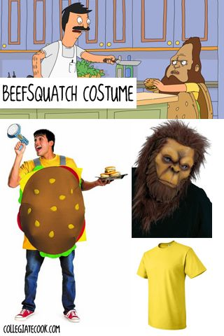 "#Halloween13: Bob's Burgers Costume Ideas (Day 6) - Gene Belcher/""Beefsquatch"" costume"
