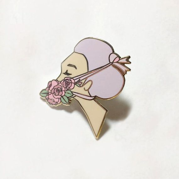 All Tied Up at the Moment Hard Enamel Pin by Quinne on Etsy