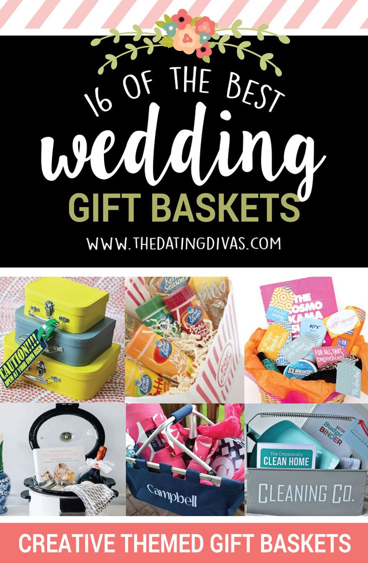 18 of the BEST wedding gift baskets to give to those you love!