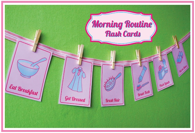FREE Printable Morning Routine Flashcards