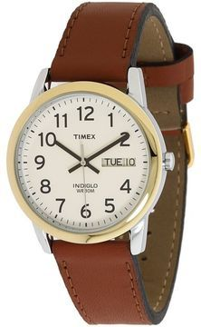 Timex - Easy Reader Brown Leather Watch #T20011 (Gold/Silver) - Jewelry on shopstyle.com