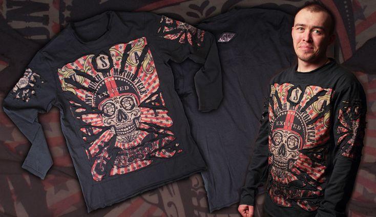 Футболка Череп рваный (Прикольная футболка, Рванные футболки). Можно купить в интернет-магазине Шалена Майка