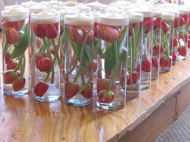Orange Tulips in Cylinder by theflowercartllc, via Flickr