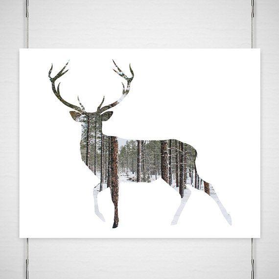 Deer Antlers Photography / digital silhouette by BokehEverAfter, $26.00