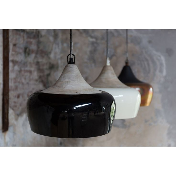 Dutchbone Coco Hanglamp 34 cm - Glossy Black Diameter 34 cm - Eur 99,-