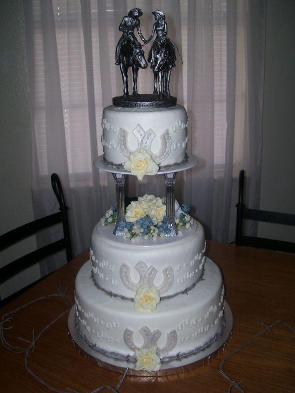 cowboy weddings | Cowboy wedding cakes