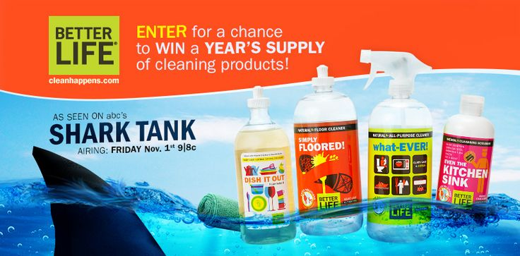 I just entered to %23WIN a YEAR'S SUPPLY of Better Life natural cleaning products. Remember to watch Better Life on Shark Tank, this Friday (Nov.1) at 9 p.m. ET on the ABC TV Network!