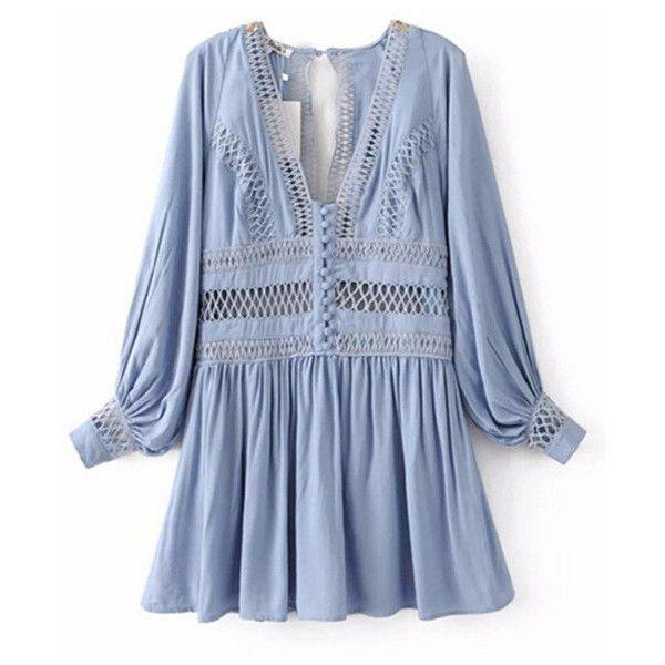 Boho Pleated Mini Dress Shop Elettra (1 560 UAH) ❤ liked on Polyvore featuring dresses, bohemian cocktail dress, bohemian style dresses, boho chic dresses, short dresses and blue cocktail dresses