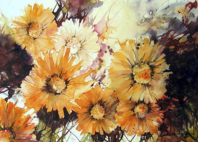 Desrochers Andree Watercolor Flowers Watercolor Flowers Paintings Watercolor
