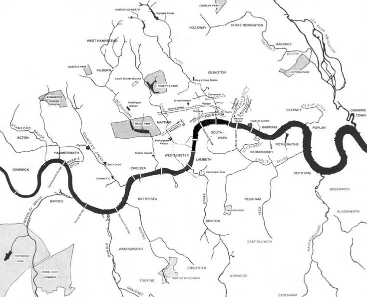 285 - London's Lost Rivers | Strange Maps | Big Think