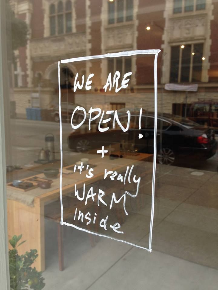 Handwritten Signage #open
