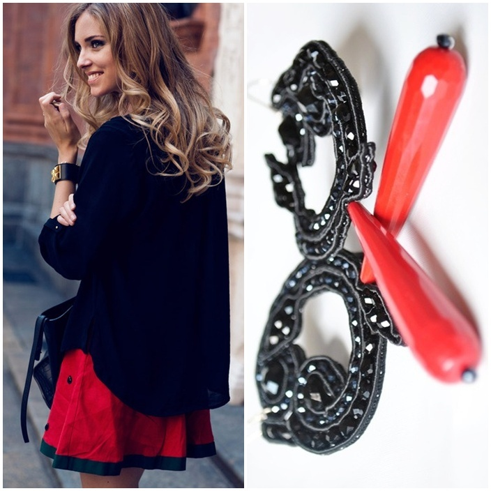 earrings outfit   If Chiara wore BLACK FOLLIES #earrings in this #outfit?  http://edefjewels.blogspot.it/2012/07/black-follies.html