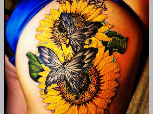 Garden tattoo patterns 35 tremendous sunflower tattoo for Garden tattoos designs