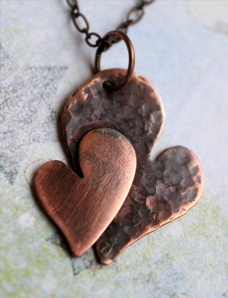 Danagonia enchanted jewelry wedding anniversary gift for Hammered copper jewelry tutorial