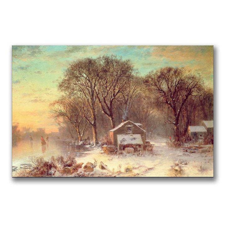 Winter in Malden Massachusetts Canvas Art by Thomas Doughty - BL0815-C1624GG