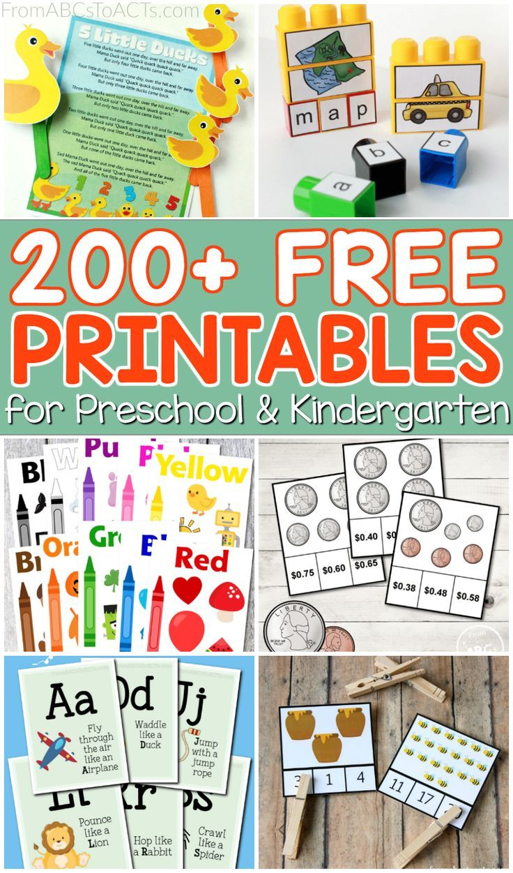 Tons of of free academic printables for preschoolers and kindergartners!  Pa…