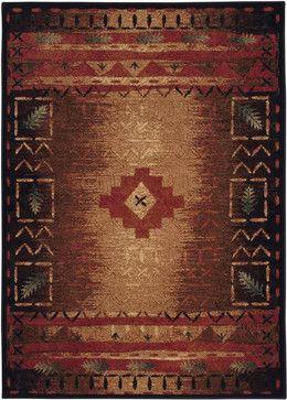 "Capel Badin Badin, Coffee Multi, 7'10""x10'10"" Rug southwestern-outdoor-rugs"