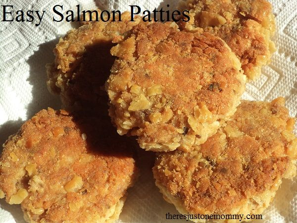 Easy Salmon Patties | There's Just One Mommy