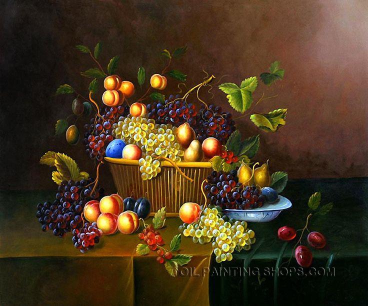 "Bliss Online Painting Still Life Fruit Painting Grape Peach, Size: 36"" x 24"", $116. Url: http://www.oilpaintingshops.com/bliss-online-painting-still-life-fruit-painting-grape-peach-1363.html"