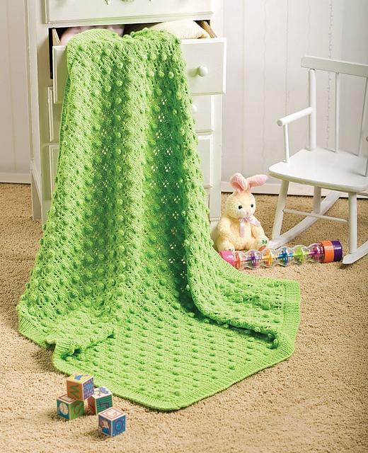 Ravelry: Bobbles & Lace Baby Blanket Free Pattern