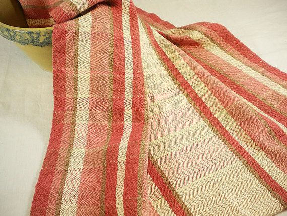 Exceptional Kitchen Towel Cotton And Linen In Rose Stripes By JeanWeaves
