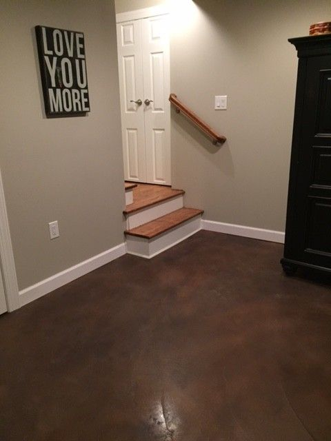 stained concrete floors diy cost basement floor pictures bedroom rustic