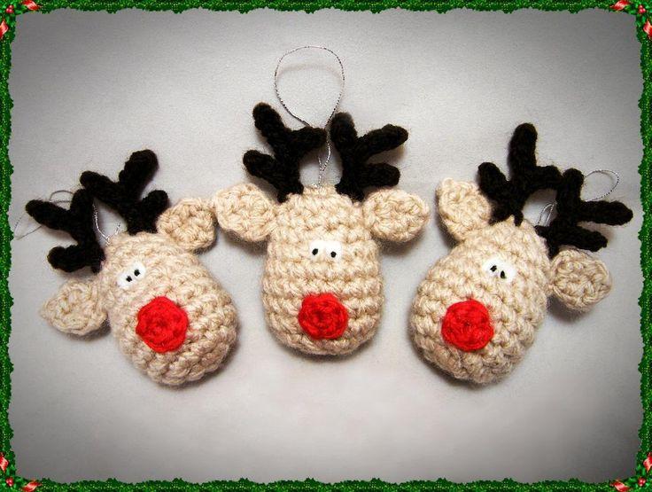 Reindeer Crochet Christmas Decoration Pattern    $0.99